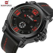 NAVIFORCE 9099 мужские часы Топ бренд класса люкс спортивные кварцевые часы с кожаным ремешком Мужские Водонепроницаемые наручные часы Relogio Masculino