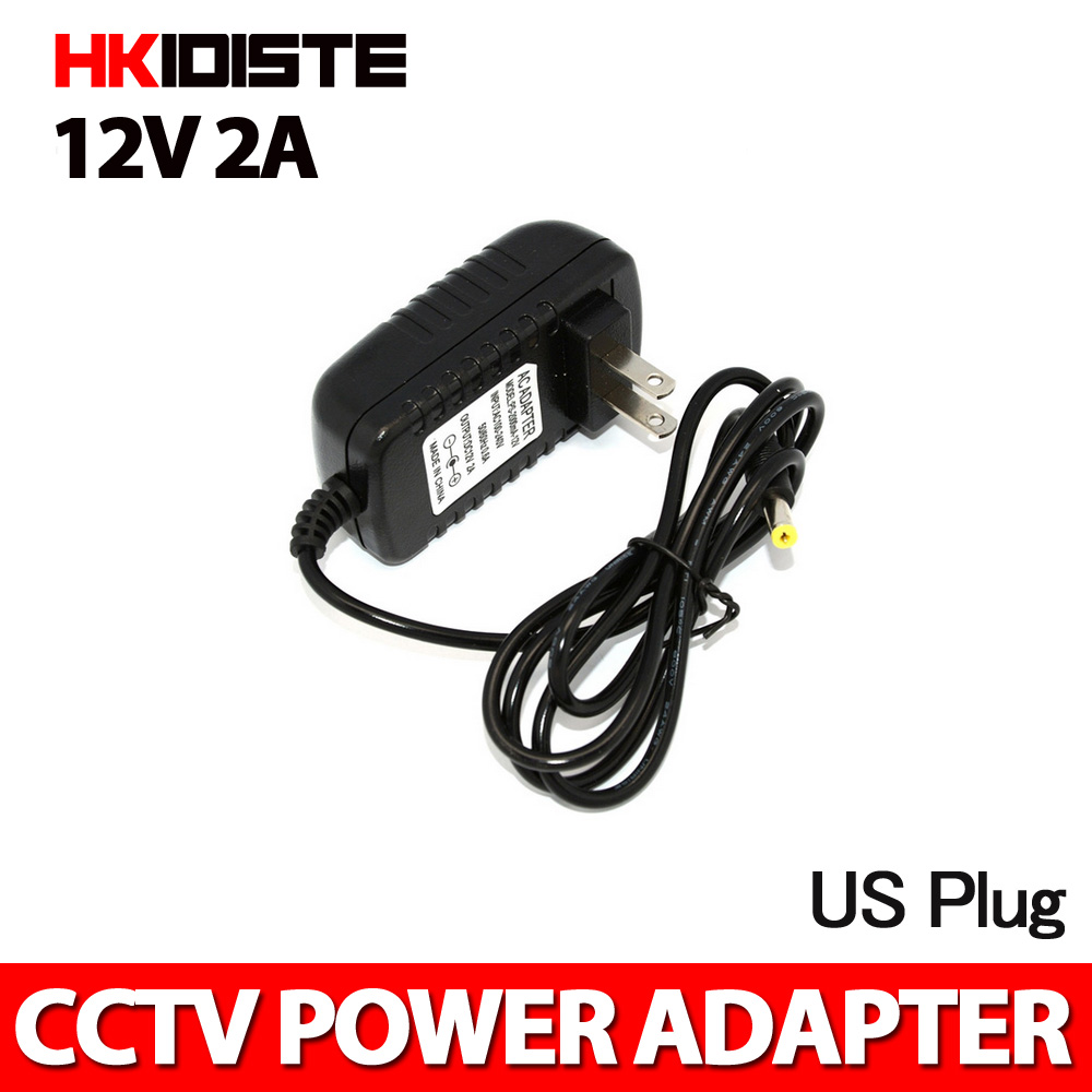 AC DC Adapter DC 12V 2A AC 100-240V Converter Adapter Charger Power Supply  US Plug Black Wholesale Free Shipping ac 100 240v to dc 12v 2a switch switching power supply converter adapter eu uk us au 5 5mm 2 5mm plug free shipping