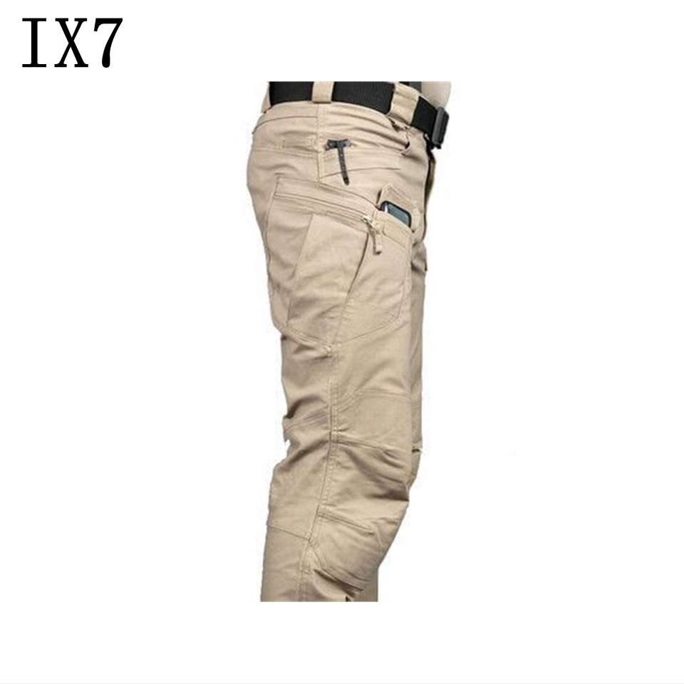 IX7 Outdoor Sports Camping Riding Hiking Tactical Pants Men Trousers for Men Four Seasons Multi-pocket Military Pants mens ripstop tactical pants outdoor camping water repllent hiking pants urban sports trousers army green