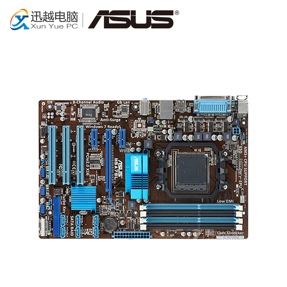 Asus M5A78L Desktop Motherboard 760G Socket AM3+ DDR3 16G SATA2 USB2.0 ATX free shipping original motherboard for asus m5a78l le ddr3 socket am3 am3 boards 32gb 760g desktop motherborad