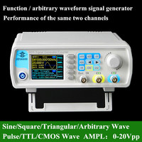 ARGEDO 8 MHz LCD Dual Chanel שרירותי גל DDS מחולל אותות מקור אות דופק 200MSa/s 12 ביטים # BV413