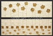 купить Pretty beautiful pale yellow flowers decorative painting100% handmade oil painting On Canvas Paintings по цене 2605.25 рублей