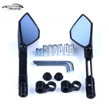 1 пара Универсальный мотоцикл резервного зеркала заднего вида аксессуары мотоцикл зеркало для Honda Для SUZUKI для Yamaha