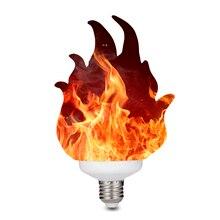 3D הדפסת LED להבת אפקט אור הנורה אש מהבהב אמולציה דקור מנורת E27 LED להבת אפקט אש אור שינה