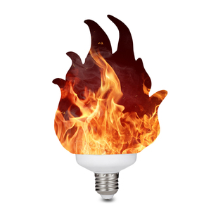 Image 1 - 3D Printing LED Flame Effect Light Bulb Fire Flickering Emulation Decor Lamp E27 LED Flame Effect Fire Light Bulbs For Bedroom