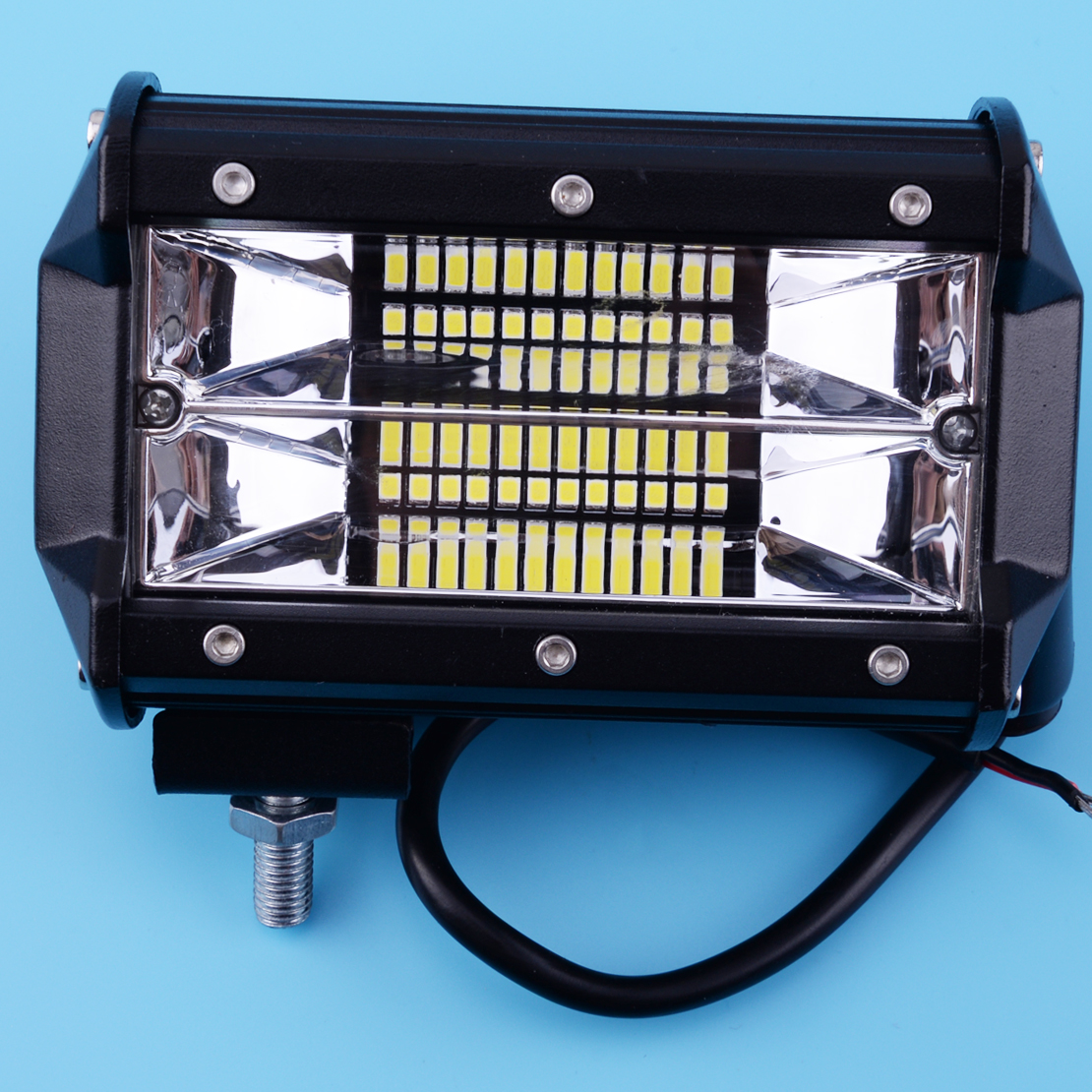 Beler 12 v 72 w LED Lumière Bar 5 pouce Spot Faisceau Light Work Conduite Lumière Route Éclairage pour Jeep voiture Camion SUV Bateau Marine