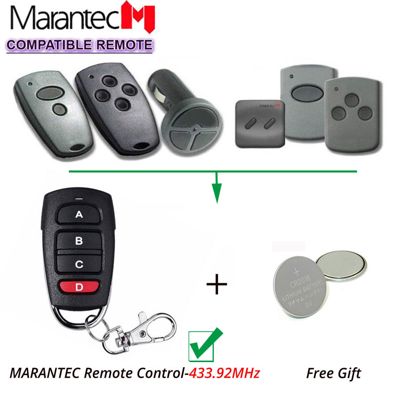 Marantec Digital 212 214 433Mhz Garage Door replacement Remote Control Marantec transmitter clone key fob v2 replacement remote control transmitter 433mhz rolling code top quality