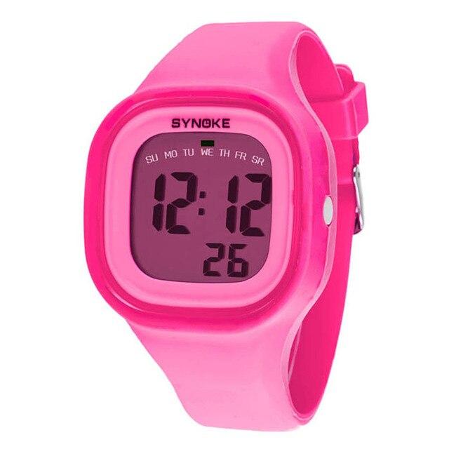 Watch Kids 1PC Silicone LED Light Digital Sport Wrist Watch Kid Women Girl Men B