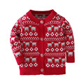 2017 christmas sweater kids 1-4 year old red pink pullover enfant fille high quality cotton knitting boys sweaters pull fillette