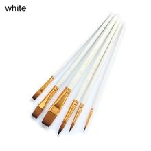 Pen Supplie Drawing-Tools Acrylic Paint-Brush Watercolor Rtist Nylon Wood 6pcs Wooden-Handle
