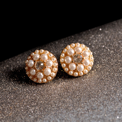 New fashion women jewelry wholesale girls birthday party pearl earrings beautiful mix and match type 6 pairs /set earrings gift