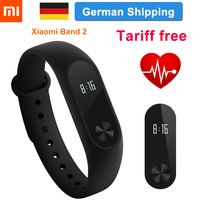 Original Xiaomi Mi Band 2 In Stock Smart Wristband Bracelet Band2 IP67 OLED Screen Step Touchpad Pulse Heart Rate ship in 24H