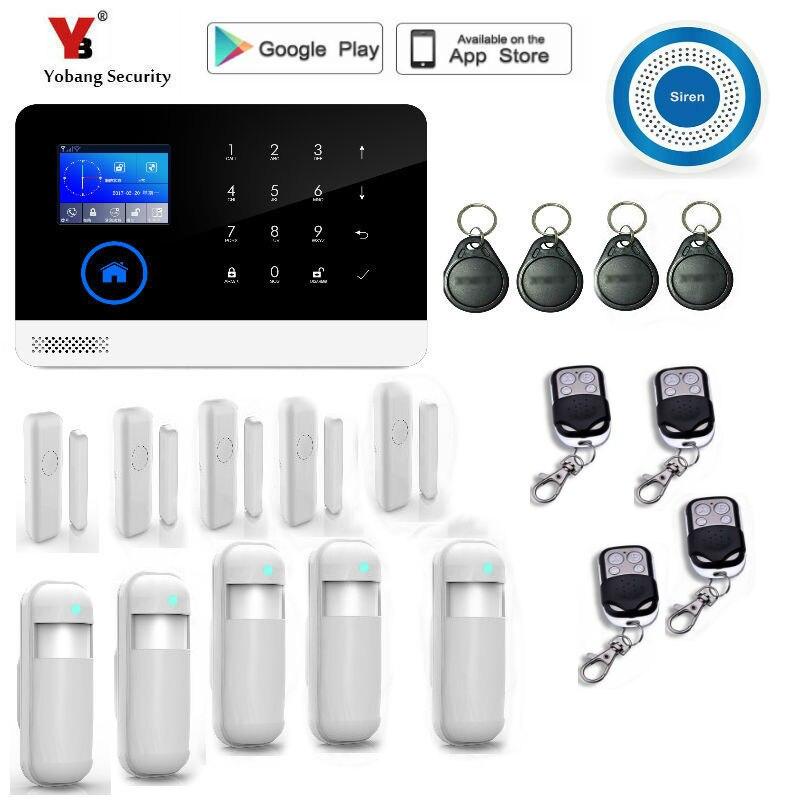 Yobang bezpieczeństwa bezprzewodowy system alarmowy wi-fi gsm wyświetlacz tft czujnik drzwi bezpieczeństwo w domu systemy alarmowe bezprzewodowy zestaw syren