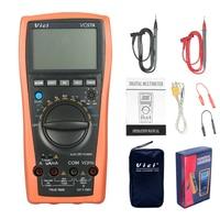 VC97A New VC97 Digital Multimeter Auto Range 1000V DMM Temperature Detector DC AC Voltage Current Meter Capacitance
