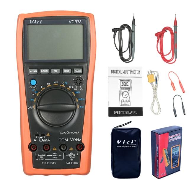 VC97A 新 VC97 デジタルマルチメータオートレンジ 1000 V DMM 温度検出器 DC AC 電圧電流計容量