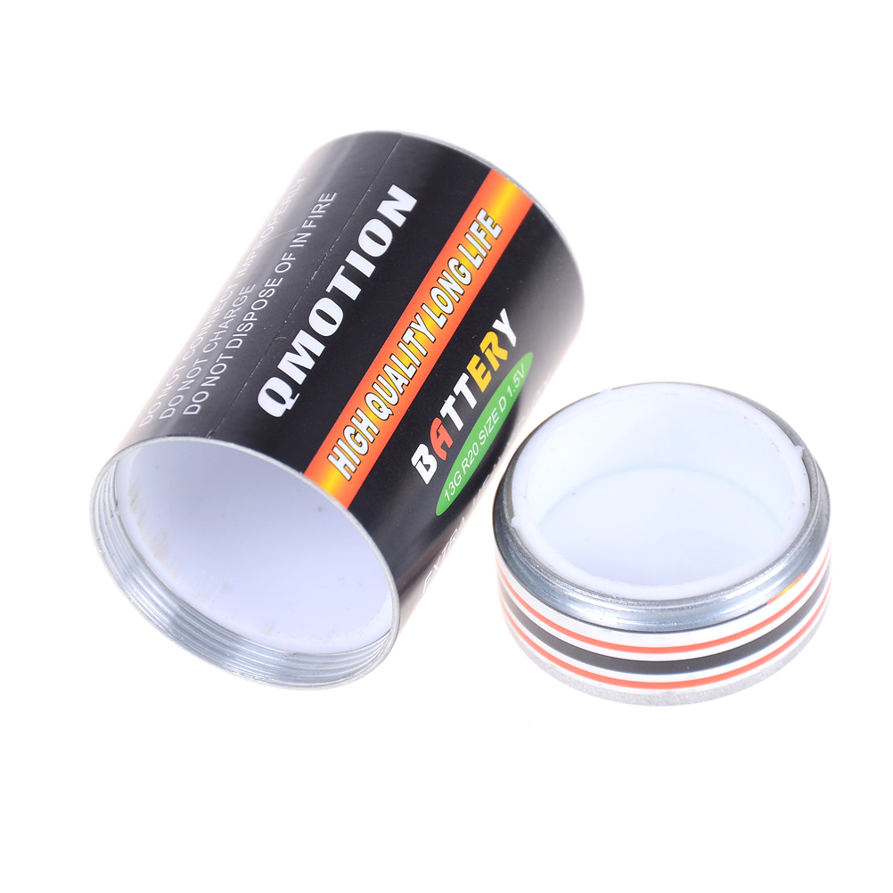 Battery Shaped Secret Stash Safe Money Coins Pill Box Hidden Container a Perfect Choice to Stash Your Cash Container Box 32*57mm