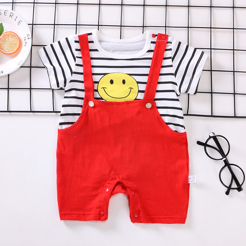 Baby Boy Clothes Summer Baby Rompers Gentleman Newborn Baby Clothes Roupas Bebe Infant Jumpsuits Kids Clothes Baby Girl Clothing
