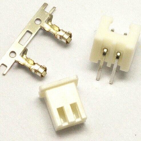Işıklar ve Aydınlatma'ten Konnektörler'de 100 Takım JST XH 2.54 2 Pin Konnektör fişi ile Erkek ve Dişi Crimps