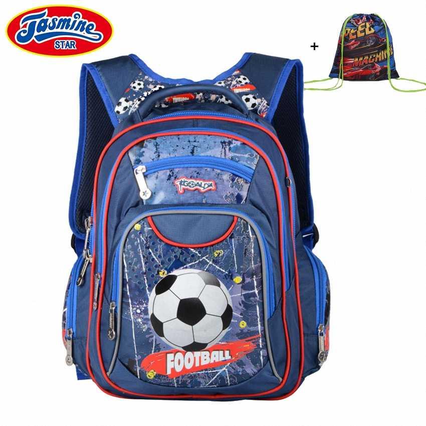 b86a61c7ef14 JASMINESTAR школьный рюкзак для мальчика большой емкости ортопедический  ранец детские школьные сумки для девочек мультфильм детский