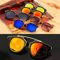 Fashion Plastic Wrap Metal Cat Eye Glasses Vintage Sunglasses Women Men Brand Designer Coating sunglass gafas lentes de sol
