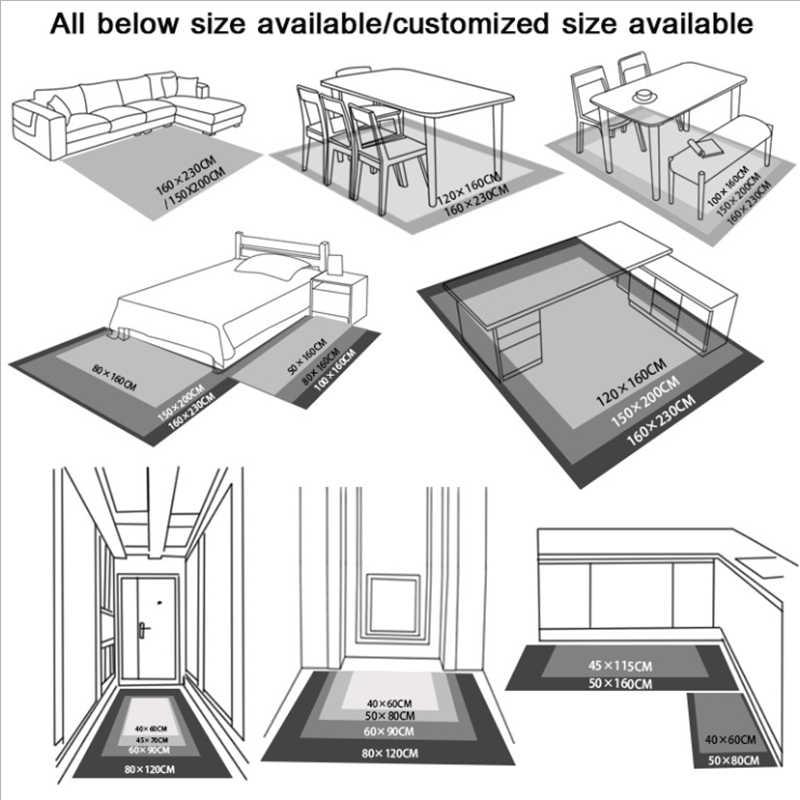 Moderno Padrão de Cor Mosaico Tapete Tapetes Para Sala de estar Tapete da Sala Dos Miúdos Não-deslizamento Anti-rugas Floor Mat os Tapetes da Área delicada