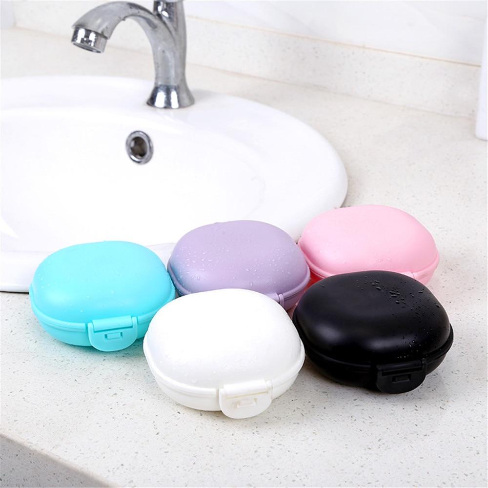 2019 New Square Mini Soap Box Bathroom Dish Plate Case Home Shower Travel Holder Container Cute 401