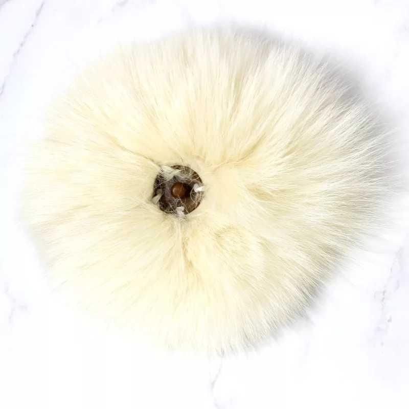 DIY Branco Puro e Natural de Pele De Raposa Fofo Chapéus Pompom Verdadeira Raposa Pele de Guaxinim Grande Bola Pom Pom para Caps Chapéus skullies Pompons 12-14cm