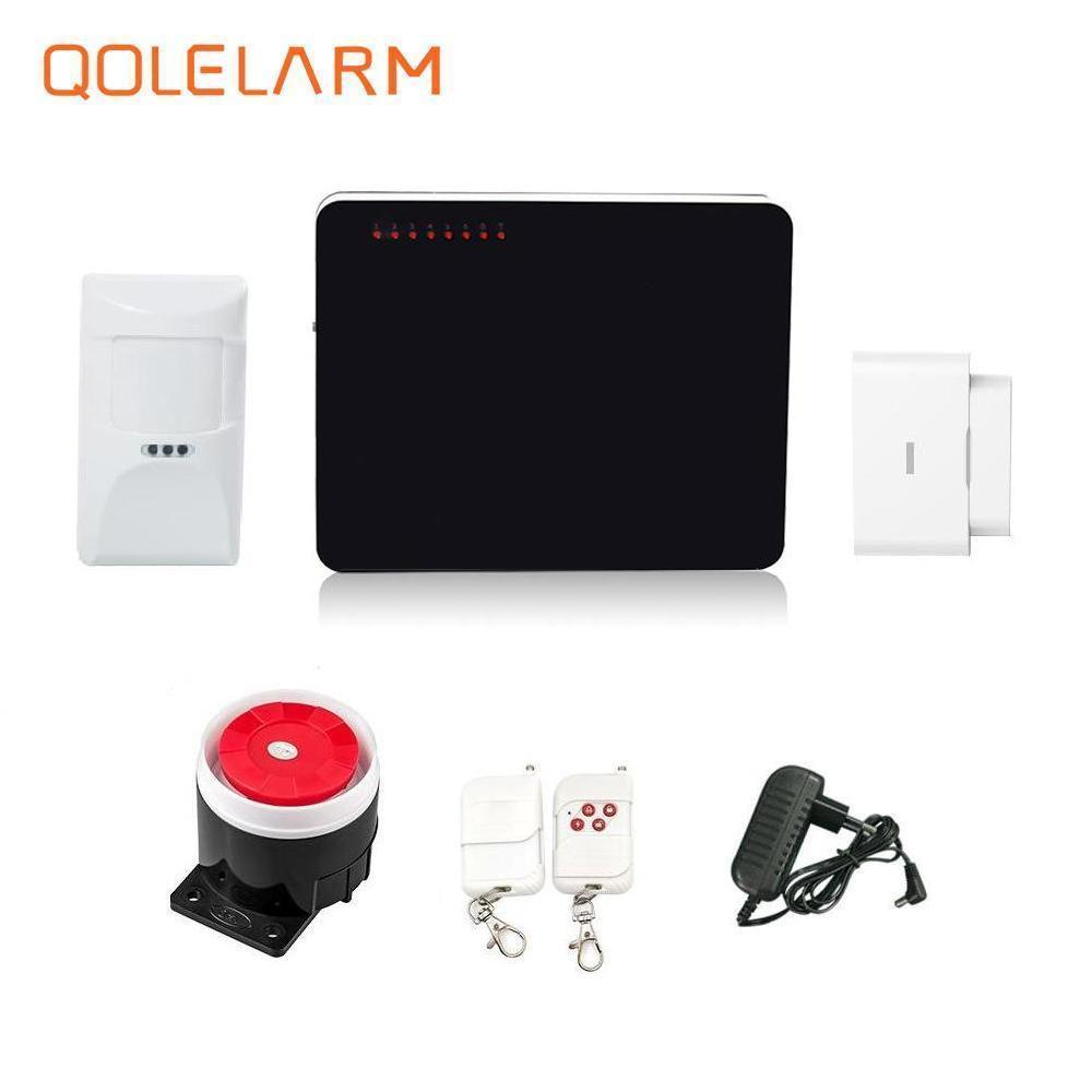 English/Russian/Spanish voice prompt 433 mhz wireless gsm sms alarm system kit home security wired siren 110 db with battery free shipping hot selling new fashion wireless gsm alarm system 433 mhz 315mhz support english russian spanish language