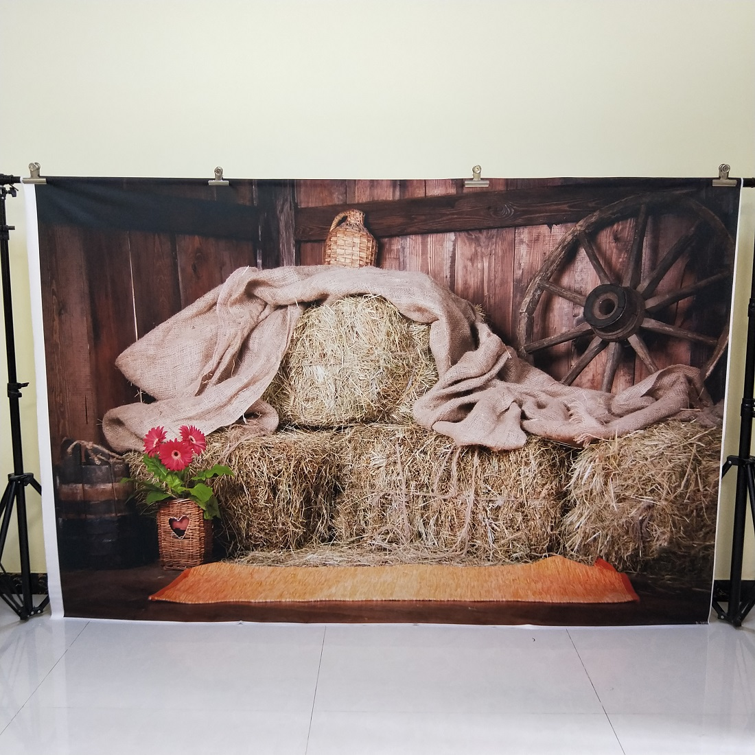 HUAYI 5x7ft Cotton Polyester Farm Haystack Photography Backdrop Washable Photo Studios Baby Props Background KP-037 huayi love photography backdrop scenery custom photo portrait studios background valentine s day backdrop xt4838