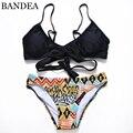 2017 Sexy Criss Cross Bikini Brazilian Bandage Swimsuit Women Push Up Swimwear Bikini Set Wrap Top Bathing Suits Swim Biquini