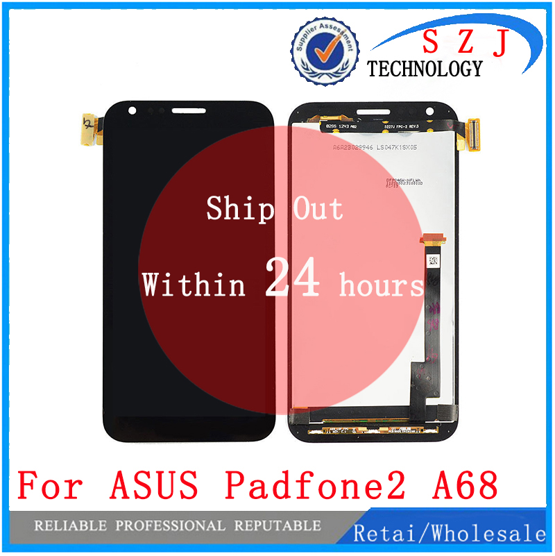 New 4.7 inch Replacement For Asus Padfone 2 II A68 Touch Digitizer Screen LCD Display Lens Assembly Free Shipping black full lcd display touch screen digitizer replacement for asus transformer book t100h free shipping