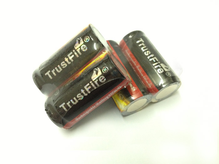 TrustFire Full Capacity 880mAh <font><b>16340</b></font> RCR123 CR123A 3.7V Rechargeable Lithium Protected <font><b>Battery</b></font> with PCB For LED Flashlights image