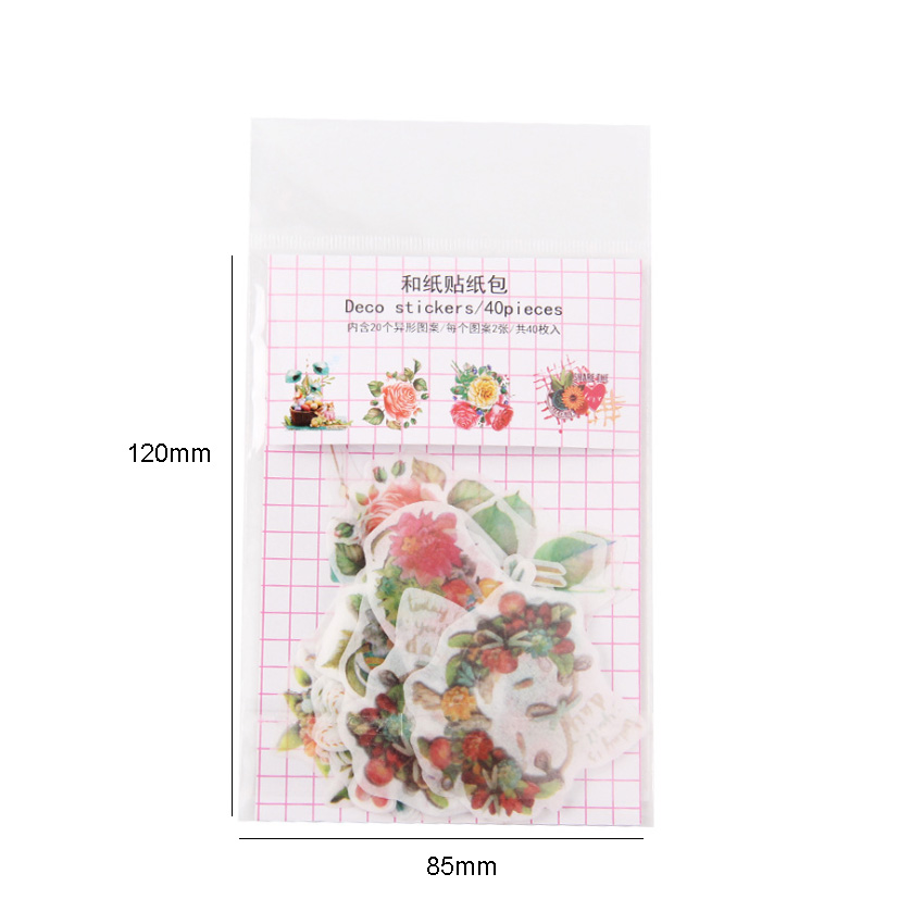 Купить с кэшбэком 40pcs/lot Lovely Sky City Series Fresh Label Sealing Stickers Diary Adhesive Scrapbooking Decorative DIY Stickers Stationery