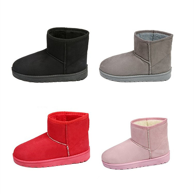 f5752a02346 US $18.98 |Snow Boots 2018 Winter Women Ankle Boot Fashion Plus Size High  Quality Flat Booties Keep Warm Woman Cotton Shoes botas mujer-in Ankle  Boots ...