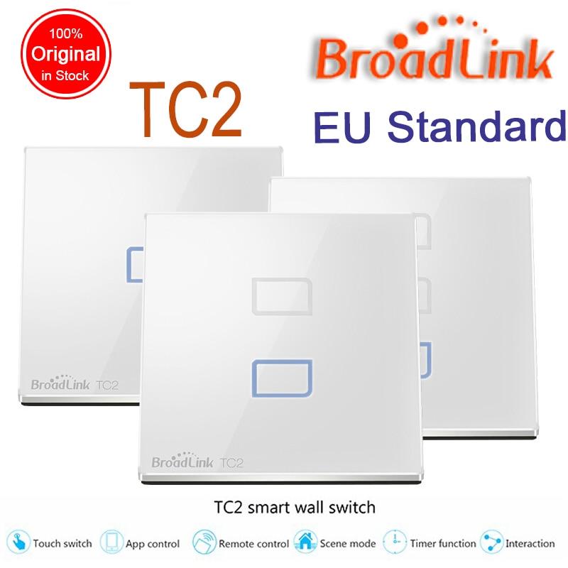 imágenes para Broadlink tc2 estándar de la ue 1 2 3 gang opcional, lámparas de luz de interruptor de pared a distancia vía móvil broadlink rm pro, domotica domótica