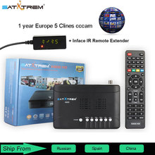 Satxtrem X800 HD satellite tv receiver DVB-S2 Standard 1080P HD with one year 5 Clines cccam support youtube youpron powervu