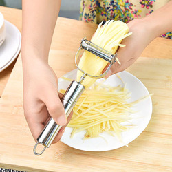 Kitchen Accessories Cooking Tools Multifunction Stainless Steel Julienne Peeler Vegetable Peeler Double Planing Grater