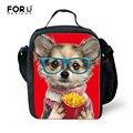 3D bonito Animal Bulldog Impressão Saco do Almoço para As Mulheres Duplas Crianças Lunch Box Food Container Meninas Saco Do Piquenique Bolsa Termica