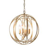 globe round vintage cage hanging lamps antique champion gold replica design lamps loft metal dining pendant lighting for bedroom