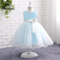 Puffy 2017 Lovely Baby Dresses Ball Gown First Communion Dresses For Girls Kids Evening Gowns Flower