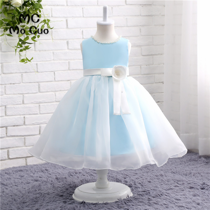 Puffy 2017 Lovely Baby   Dresses   Ball Gown first communion   dresses   for   girls   kids evening gowns   flower     girl     dresses   for weddings