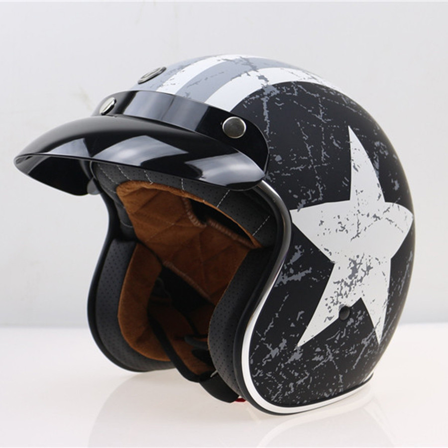 TORC Vintage Harley Electronic Motorcycle Helmet 3/4 Open Face Motorbike Helmets With Inner Visior Moto Casque DOT Retro Casco 2017 new ece certification ls2 motocross motorcycle helmet ff352 full face motorbike helmets made of abs and pc silver decadent