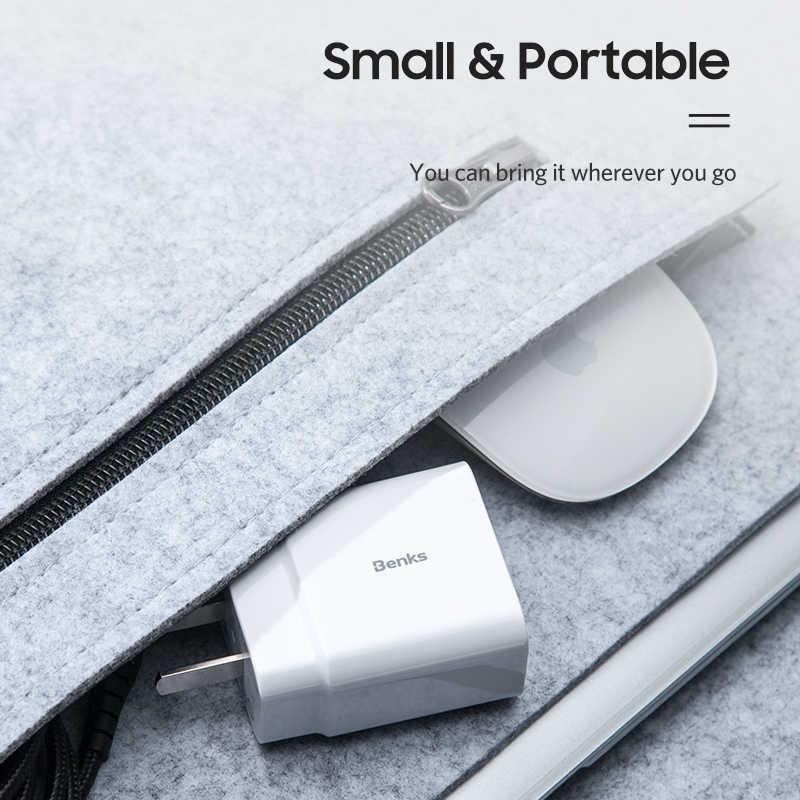 Benks 18W USB-C PD3.0 Cepat Charger Pengisian Cepat 3.0 Tipe C Dinding Power Adapter untuk Iphone Huawei Samsung QC 3.0 Telepon Charger