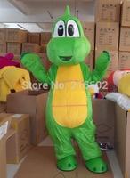 Yüksek kalite Profesyonel Yoshi Dinosaur Super Mario Maskot Kostüm Ücretsiz Kargo