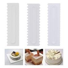 3pcs/Set Cake Decorating Comb Icing Smoother Scraper Pastry 6 Design Textures Baking Tools Fondant Spatulas