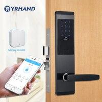Электронный замок безопасности, приложение WIFI смарт-замок, цифровой код клавиатуры Deadbolt Bluetooth замок с шлюзом