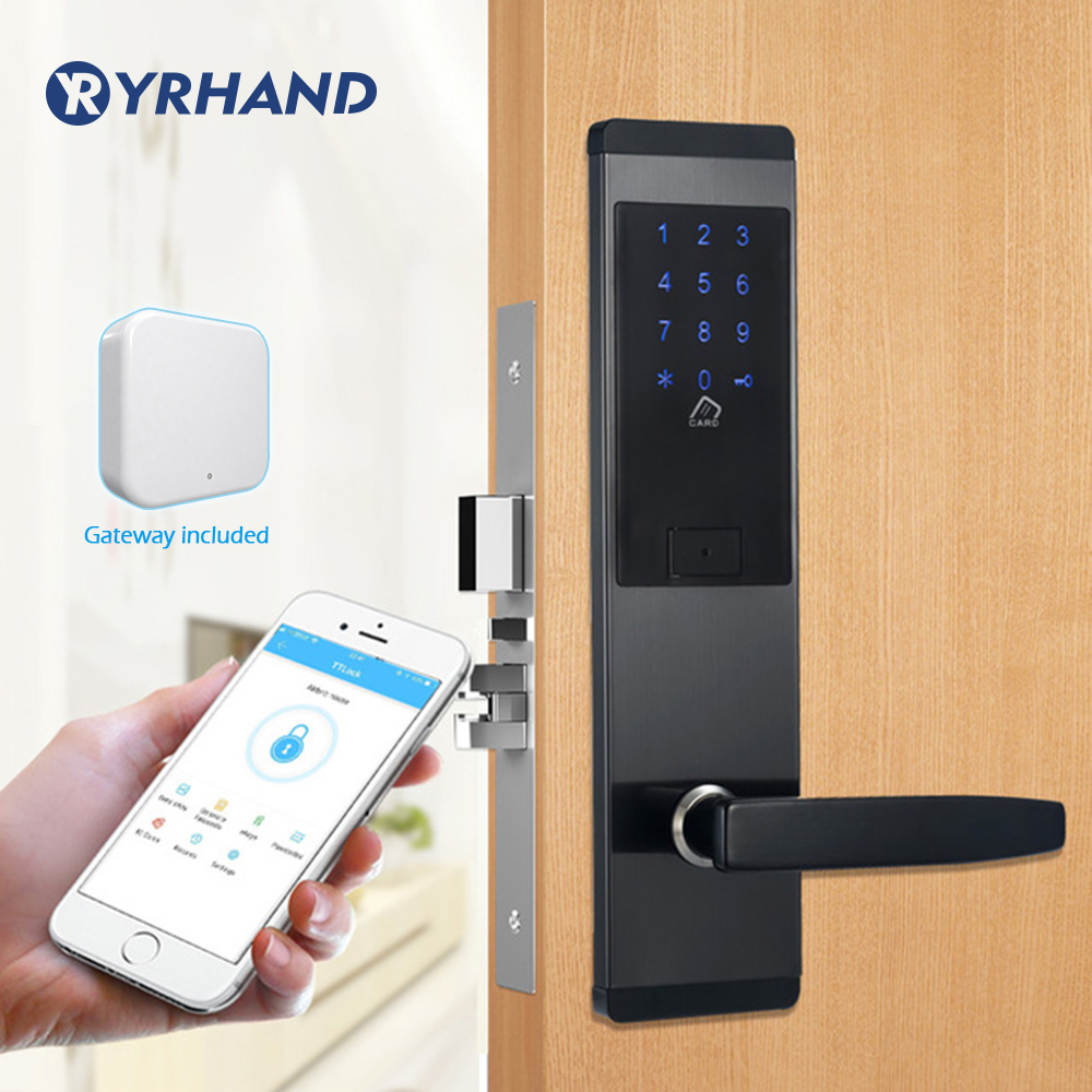 Security Electronic Door Lock, APP WIFI Smart Lock,Digital Code Keypad Deadbolt Bluetooth Lock with gatewaySecurity Electronic Door Lock, APP WIFI Smart Lock,Digital Code Keypad Deadbolt Bluetooth Lock with gateway