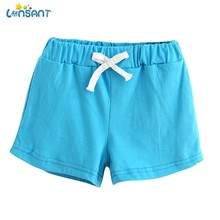 LONSANT 2018 Summer Unisex Children Casual Solid Short Cotton Shorts Boys And Girl Clothes Baby Fashion Pants(China)