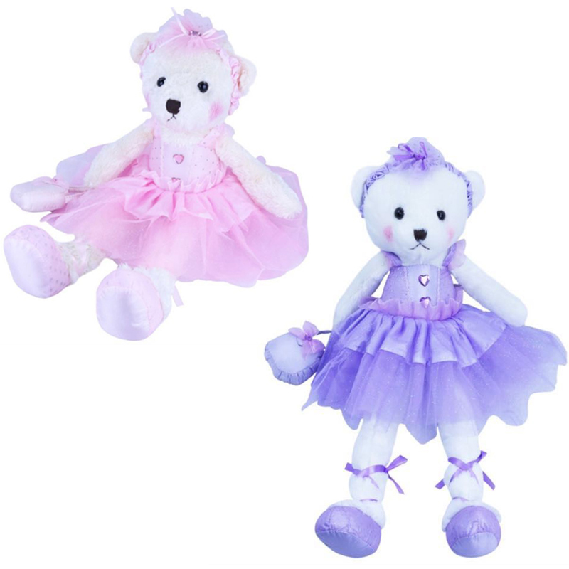 1pcs Ballerina Teddy Bear Plush Animal Toy Cute Bear Stuffed Toy Birthday  Gifts
