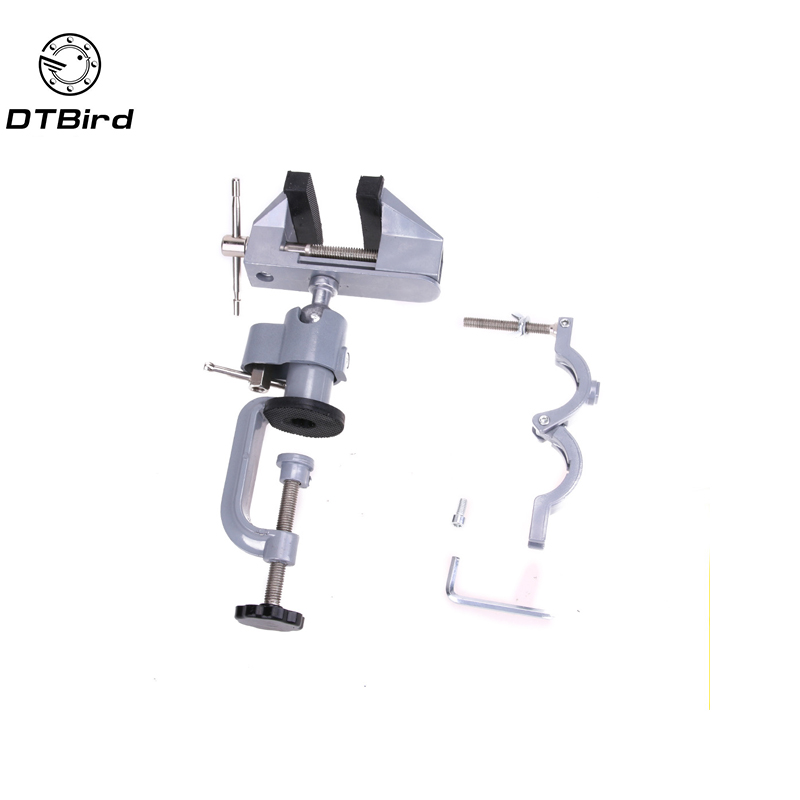 Multinational 2 in 1 Table Vise Bench Vice Aluminium Alloy 360 Degree Rotating Universal Vise Precise Mini Vise Clamp alloet